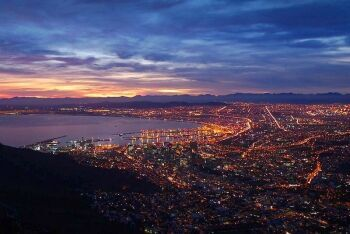 Cape Town harbour, Lions Head, Cape Town, Western Cape